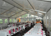 Ultraviolet Resistant Aluminum Outdoor Party Tents Transparent PVC Fabric Cover