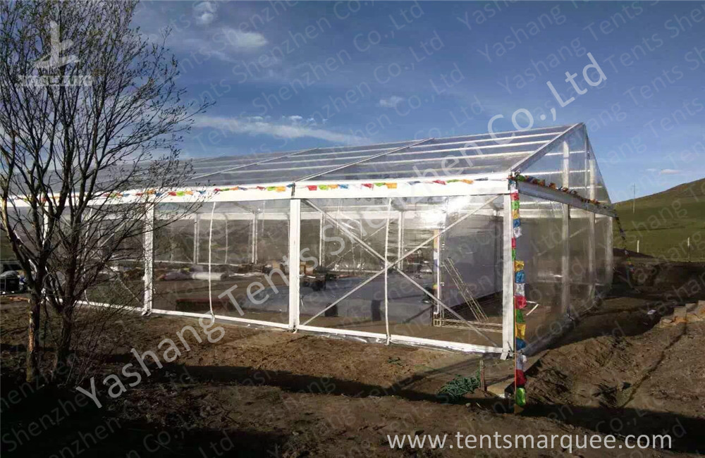 Wind Resistant Transparent Fabric clear event tent Canopy Structure