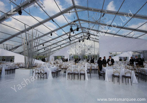 Κίνα Outdoor Transparent PVC Cover Luxury Wedding Tents Wind Resistant εργοστάσιο