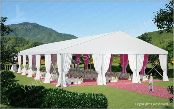 Outdoor 10m by 30m Tent Marquee for Luxury Weddings Customized with Logos