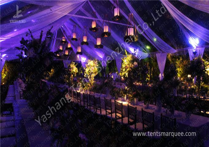 Transparent PVC Fabric Cover Outdoor Luxury Wedding Tents with Aluminum Frame